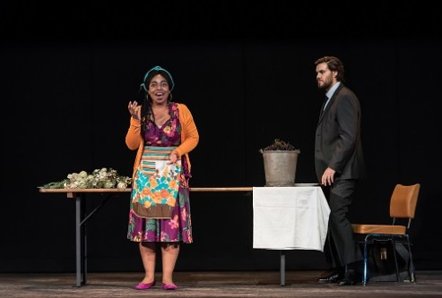 Jette Parker Young Artists summer performance; Royal Opera House; Covent Garden; London, UK; 14 July 2017; Mascagni: L'amico Fritz, Act II ('Cherry' Duet) Conductor: David Syrus Suzel: Francesca Chiejina Fritz: Thomas Atkins Photo: © ROH Photographer: CLIVE BARDA