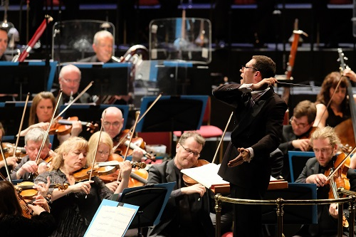 Prom 14- Ralph Vaughan Williams: Symphony No. 9 in E Minor & Gustav Holst's The Planets performed by the BBC Scottish Symphony Orchestra conducted by John Wilson at the Royal Albert Hall, on Tuesday 25 July 2017. Photo by Mark Allan