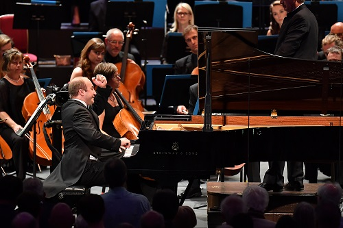 Pianist Alexander Gavrylyuk performs Rachmaninov's Piano Concerto No.3 in D minor with the BBC Scottish Symphony Orchestra; photo credit - Chris Christodoulou.