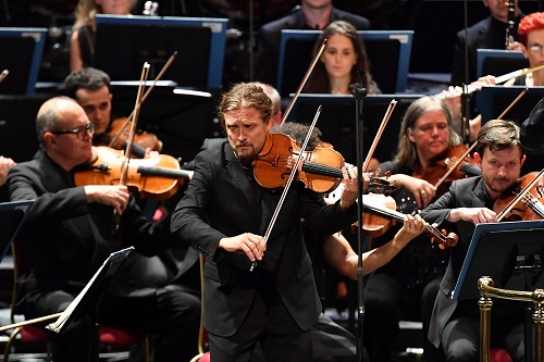 Christian Tetzlaff performs Berg's Violin Concerto with the Scottish Chamber Orchestra under conductor Robin Ticciati at the 2017 BBC Proms; photo credit - Chris Christodoulou.
