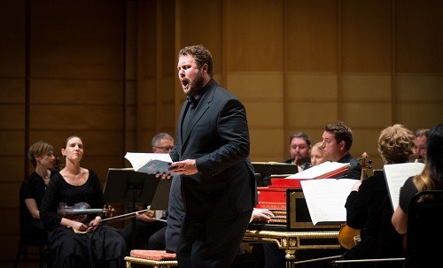 Tenor Thomas Hobbs at the Vancouver Bach Festival © Jan Gates