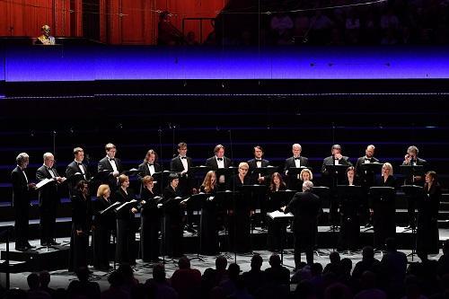 The Latvian Radio Choir directed by Sigvards Kļava; photo credit - Chris Christodoulou.