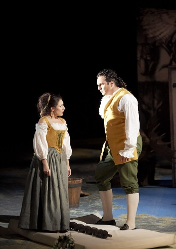 Andrea Carroll as Susanna, Adam Plachetka as Figaro © Wiener Staatsoper GmbH / Michael Pöhn