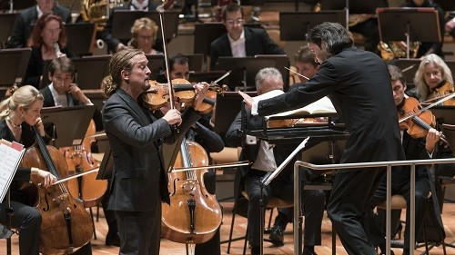 Christian Tetzlaff with Vladimir Jurowski. Photo credit - Kai Bienert.