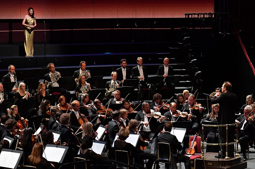 Soprano Chen Reiss joins the Royal Concertgebouw Orchestra under conductor Daniele Gatti to perform in Mahler's Symphony No. 4 in G major, at the BBC Proms 2017. Photo credit - Chris Christodoulou.
