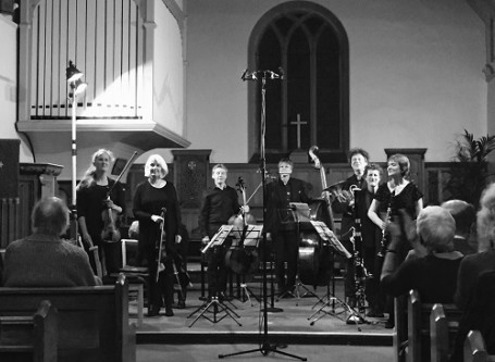 he Hebrides Ensemble in Dirleteon Kirk. Photo credit: Jane Nicolson.