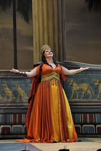 Liudmyla Monastyrska as Abigaille in Nabucco. Photo: Ken Howard/LA Opera.