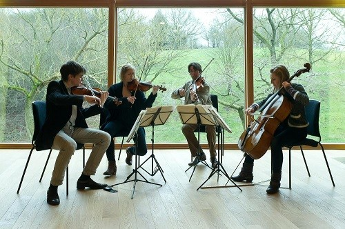 Sacconi Quartet; photo credit - Clive Barda.