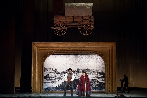 The San Francisco Opera dress rehearsal of Girls of the Golden West. At the War Memorial Opera House on Friday night, November 17, 2017.