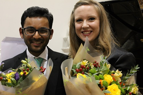 Keval Shah (winner accompanists' prize) with Emma Stannard (winner Bampton Young Singers' Competition 2017)