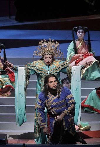 Nina Stemme as Princess Turandot and Brian Jagde as Calaf in Puccini's 'Turandot' (Photo: Cory Weaver/San Francisco Opera)