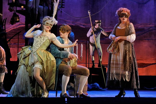 Erin Morley, Jack Swanson and Christine Ebersole in Candide. Photo: Ken Howard