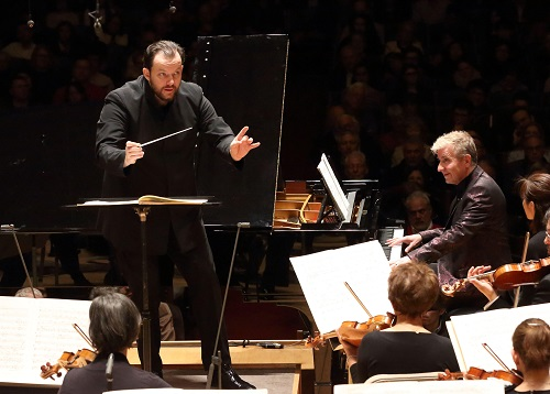 Andris Nelsons and Jean-Yves Thibaudet in Bernstein's The Age of Anxiety © Hillary Scott