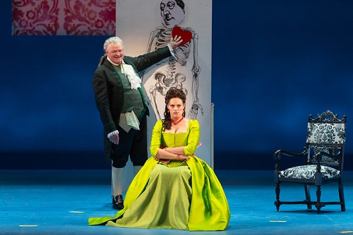 Dale Travis (Doctor Bartolo) and Emily D'Angelo (Rosina) in The Barber of Seville © Karli Cadel/The Glimmerglass Festival
