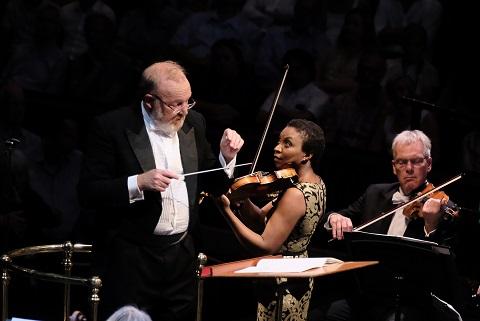 Martyn Brabbins (conductor), Tai Murray (violin) (c) BBC/Mark Allan