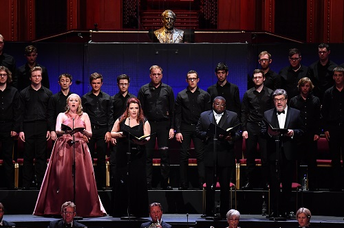 Erin Wall (soprano), Judit Kutasi (mezzo-soprano), Russell Thomas (tenor), Franz-Josef Selig (baritone) © BBC Proms/Chris Christodoulou