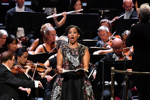 Golda Schultz (soprano) with the BBC Symphony Orchestra and BBC Symphony Chorus conducted by Richard Farnes (c) BBC/Chris Christodoulou