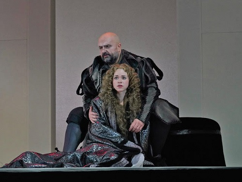 Sebastian Catana (Rigoletto) and Maria Valdes (Gilda) in Berkshire Opera Festival's Rigoletto © Ken Howard