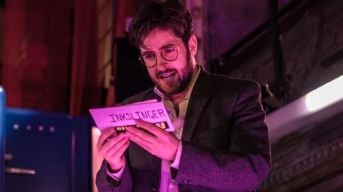 Elgan Llyr Thomas as Johnny Inkslinger (c) Genevieve Girling