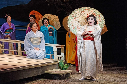 Dina Kuznetsova (Cio-Cio San) and Laurel Semerdjian (Suzuki) in Pittsburgh Opera's Madama Butterfly © David Bachman Photography