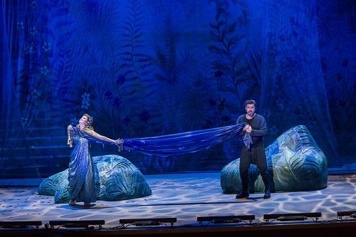 Ericka Gál (Queen of Sheba) and Boldizsár László (Assad) © Attila Nagy / Hungarian State Opera