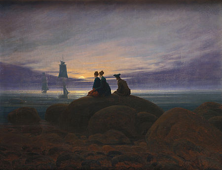 Caspar David Friedrich: Moonlight over the Sea