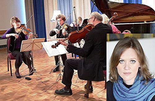 Fitzwilliam String Quartet with Anna Tilbrook (inset) - (c) Philip R Buttall
