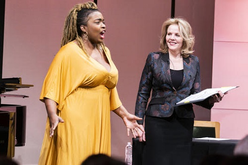 Renée Fleming Master Class with Axelle Fanyo (soprano) (c) Chris Lee
