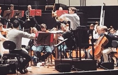 Thomas Rösner in rehearsal with the Bournemouth Symphony Orchestra for their New Year Johann Strauss Gala concerts